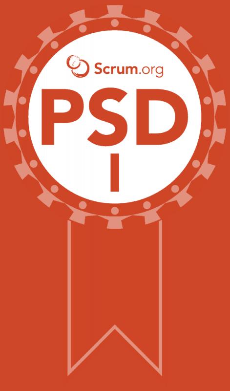 Professional Scrum Developer I Certification Badge
