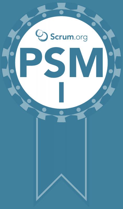 Professional Scrum Master I Certification Badge